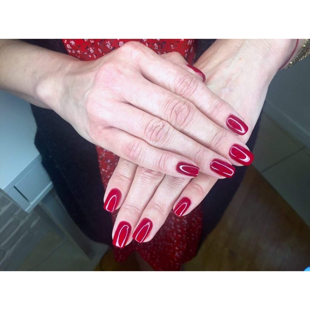 Manicure Hybrydowy Z Baza Rubber Hard Nowosc Salon Urody